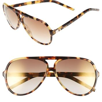 MARC JACOBS 60mm Aviator Sunglasses | Nordstrom