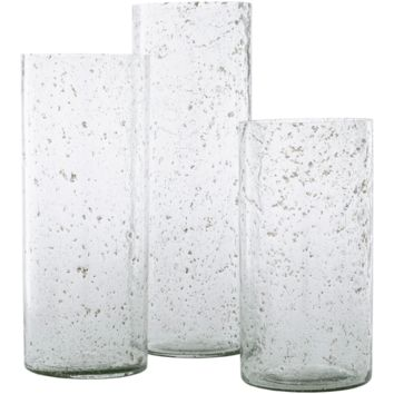 Mist Glass Vase ~ Clear (Set of 3)