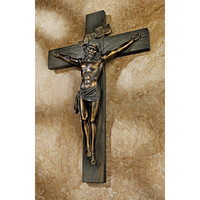 Crucifixion Cross of Jesus Christ Wall Décor Antique Stylized
