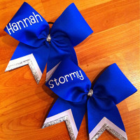 Custom cheer bows personalized with name