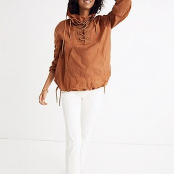 Lace-Up Popover Jacket