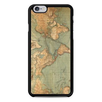 Vintage World Map iPhone 6/6S Case