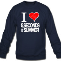 I Love 5 Seconds of Summer Crew Neck Sweatshirt