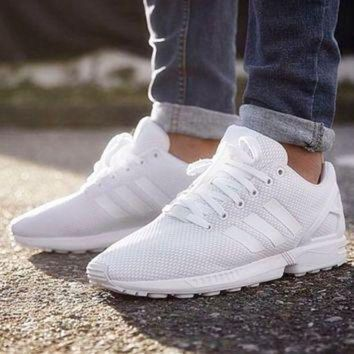 ESBONS Adidas' Fashion Women ZX FLUX Running Sport Casual Shoes Sneakers White