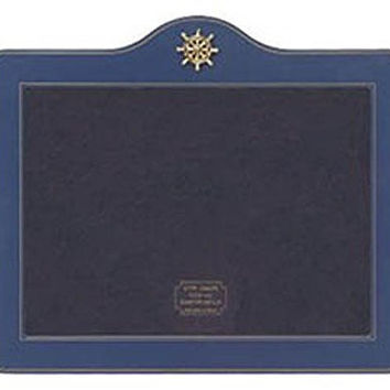 Blue Enamel Ship's Wheel Tabletop Photo Frame
