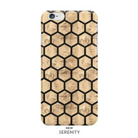 Rose Gold Hexagon iPhone Case, iPhone 6, iPhone 6 Plus, iPhone 5/5s,Samsung Galaxy Case,Faux Rose Gold Honeycomb, Black, NewSerenityStudio