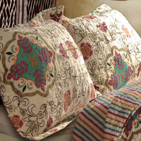 Esprit Spice Cotton Quilt King Set With 2 Pillows Shams