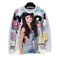 Unisex Sneak 3D Sweater Selena Gomez Sweatshirt T Shirts (S)