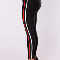 The New Classic Striped Pants - Black