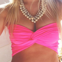 Twisted Red Bandeau
