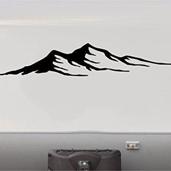 Mountains Motor Home Stripe Kit- RV Stickers - Trailer Stickers- Camper Vinyl Decal