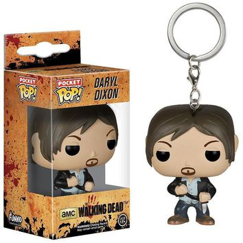 Funko POP Television Walking Dead Daryl Dixon Keychain Vinyl Action Figure Model With Original Box WJ552