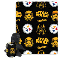 Pittsburgh Steelers NFL Star Wars Darth Vader Hugger & Fleece Blanket Throw Set