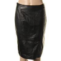 BOSS Hugo Boss Womens Dieselstrasse 12 Leather Lined Pencil Skirt