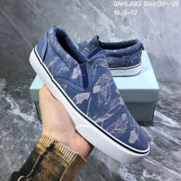 DCCK2X N918 Nike Toki Slip Print Fashion Baitie Leisure Foot Canvas Shoes Blue