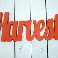Wood Sign - Wood Words Harvest Wall Decor