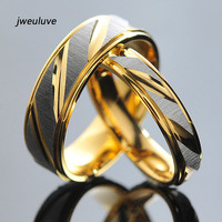 1 Piece! Stainless Steel Couples Rings for Men Women Gold Wedding Bands Engagement Anniversary Lovers his and hers promise KR005