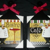 2 Hanging Bistro Fat Chef Cutting Boards