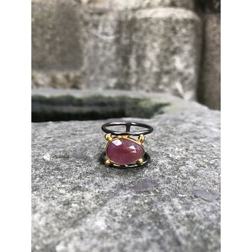 Unique sapphire gemstone 925k sterling silver stylish womens ring