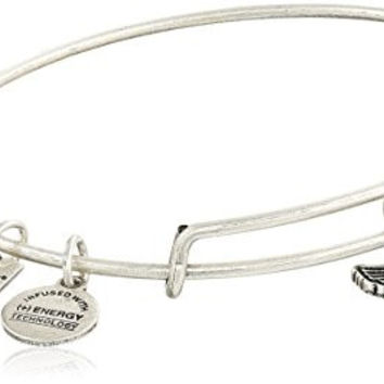 Alex and Ani Charity By Design Spirit of The Eagle Charm Expandable Rafaelian Silver Bangle Bracelet
