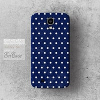 NAVY Polka dot, Samsung Galaxy S4 3D-sublimated Unique design iPhone 4/4S case iPhone 5/5S case.