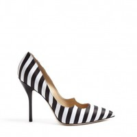 Zenadia Cut Edge Detail Striped High Shoes by Paul Andrew