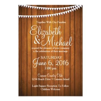 Wedding Invitation / 5x7 / Rustic / Country