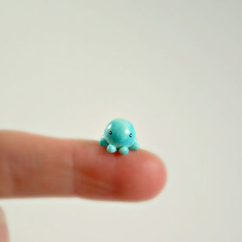 Micro Octopus - Hand Sculpted Miniature Polymer Clay Animal