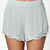 Kendall and Kylie Crochet Trim Soft Shorts at PacSun.com