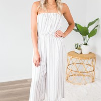 Striped Capri Jumpsuit