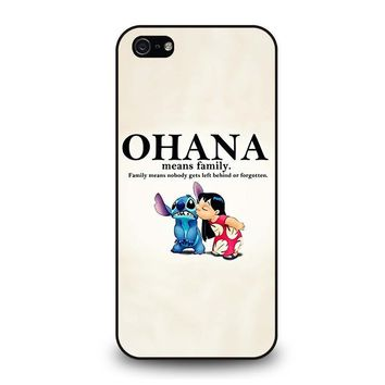 lilo and stitch ohana family disney iphone 5 5s se case cover  number 1