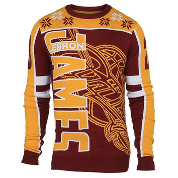Cleveland Cavaliers James L. #23 Official NBA 2015 Player Ugly Sweater