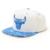 NBA Mitchell and Ness Bulls Digi 2 Tone Snapback Hat