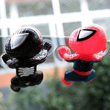 Car Styling Cute Car Sticker Climbing Spider Man Spiderman Suction Cup Doll Toy 360 Degree Rotating Car Home Interior Decoration
