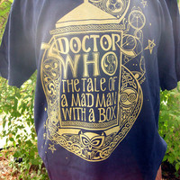 Doctor Who: Fitted T-Shirt, Hand Printed.