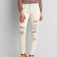 AEO Denim X Jegging, Natural Fray