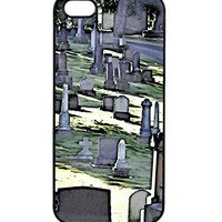 Cemetery Iphone 5 Case Horror Zombie Plastic