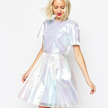 ASOS Two Piece Holographic Skater
