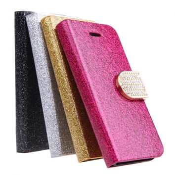 Fashion Wallet Case Flip Leather Stand Cover with Card Holder for iPhone 5S 5C 5 PA1712 Phone Accessories = 1645900420