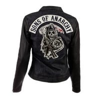 Sons of Anarchy Rough Rider Women's Jacket | Leather & Denim | FX Shop