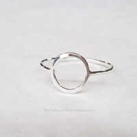 Circle Ring Sterling Silver Geometric Jewlery