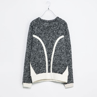 SWEATER WITH CONTRAST DETAILING