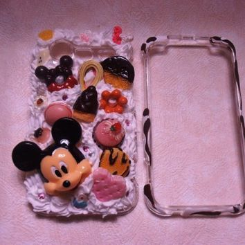 - Cutest Kawaii Japanese Sweet Decoden HTC Incredible Droid 2  Mickey Theme Whip Cream-Cute Bow-Heart-Pastry So Unique