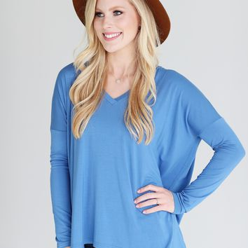 Riverside PIKO V-Neck Long Sleeve Top