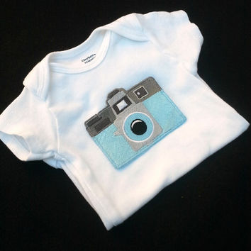Holga Camera Hipster Onesuit baby layette