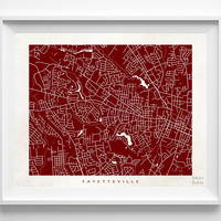 North Carolina, Fayetteville, Print, Map, NC, Poster, State, City, Street Map, Art, Decor, Town, Illustration, Room, Wall Art, Customize