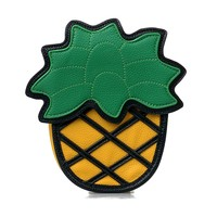 Yellow & Green Pineapple Vinyl Cross Body Handbag