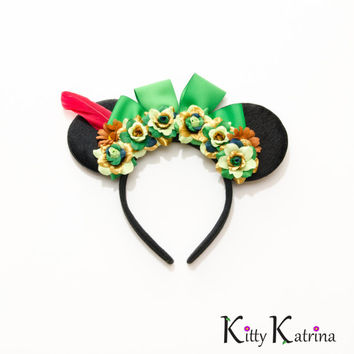 Peter Pan Mouse Ears Headband, Peter Pan Party, Peter Pan Mickey Ears, Disney Bound, Disney Headband, Disney Ears, Disneyland, Disney World