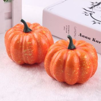 Hot 16pcs Mini Artificial Fake Foam Pumpkin For Thanksgiving Fall Halloween Table Vase Filler DIY Centerpiece Wedding Decoration