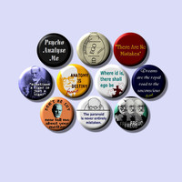 """Sigmund Freud Psychiatry Psychology father of psychoanalysis 10 Pinback 1"""" Buttons Badges Pins"""